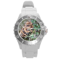Abstract Of Mushroom Round Plastic Sport Watch (l) by canvasngiftshop