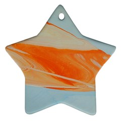 Orange And Blue Star Ornament (two Sides) by WILLBIRDWELL