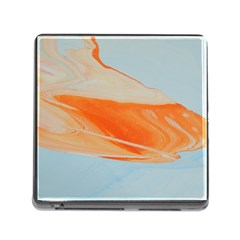 Orange And Blue Memory Card Reader (square 5 Slot)