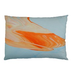 Orange And Blue Pillow Case (two Sides)