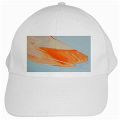 Orange And Blue White Cap