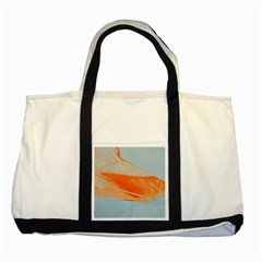 Orange And Blue Two Tone Tote Bag