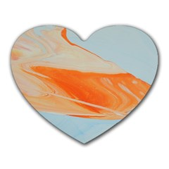 Orange And Blue Heart Mousepads