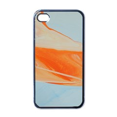 Orange And Blue Apple Iphone 4 Case (black) by WILLBIRDWELL