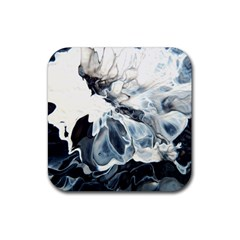 Flower 2 Rubber Square Coaster (4 Pack)