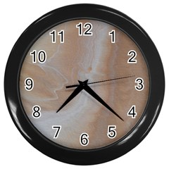 Sand Wall Clock (black) by WILLBIRDWELL