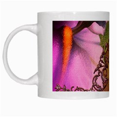 Flowers In Soft Violet Colors White Mugs by FantasyWorld7