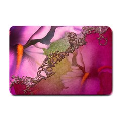Flowers In Soft Violet Colors Small Doormat