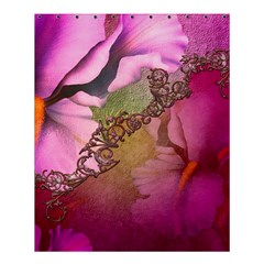 Flowers In Soft Violet Colors Shower Curtain 60  X 72  (medium)