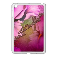 Flowers In Soft Violet Colors Apple Ipad Mini Case (white) by FantasyWorld7