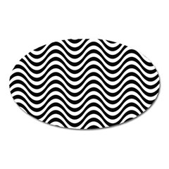 Wave Pattern Wavy Water Seamless Oval Magnet