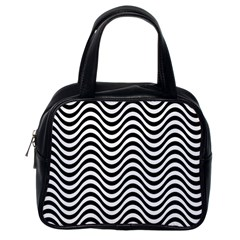Wave Pattern Wavy Water Seamless Classic Handbag (one Side)