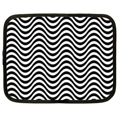 Wave Pattern Wavy Water Seamless Netbook Case (xl) by Nexatart