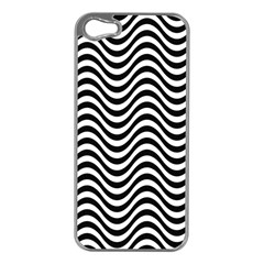 Wave Pattern Wavy Water Seamless Apple Iphone 5 Case (silver)