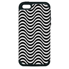 Wave Pattern Wavy Water Seamless Apple Iphone 5 Hardshell Case (pc+silicone)