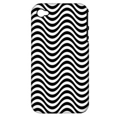 Wave Pattern Wavy Water Seamless Apple Iphone 4/4s Hardshell Case (pc+silicone) by Nexatart
