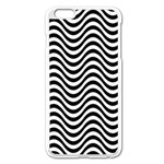 Wave Pattern Wavy Water Seamless Apple iPhone 6 Plus/6S Plus Enamel White Case Front