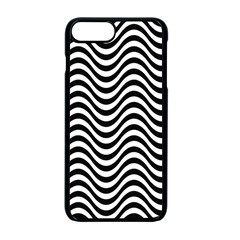 Wave Pattern Wavy Water Seamless Apple Iphone 7 Plus Seamless Case (black)