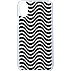 Wave Pattern Wavy Water Seamless Apple Iphone X Seamless Case (white) by Nexatart