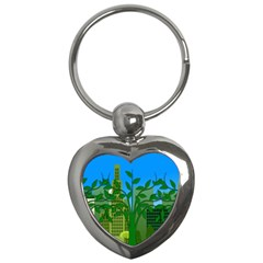 Environmental Protection Key Chains (heart)
