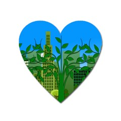 Environmental Protection Heart Magnet
