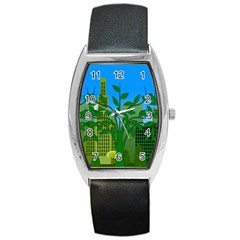 Environmental Protection Barrel Style Metal Watch