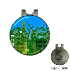 Environmental Protection Hat Clips With Golf Markers