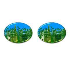 Environmental Protection Cufflinks (oval)