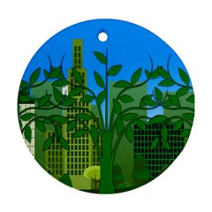 Environmental Protection Round Ornament (two Sides)