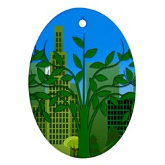 Environmental Protection Oval Ornament (two Sides)