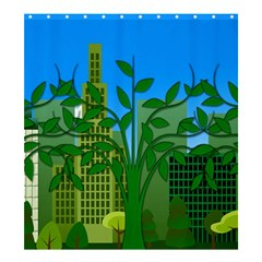 Environmental Protection Shower Curtain 66  X 72  (large)