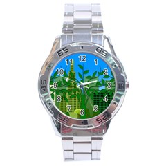 Environmental Protection Stainless Steel Analogue Watch