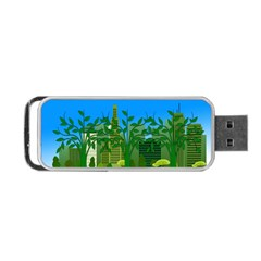 Environmental Protection Portable Usb Flash (two Sides)