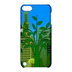Environmental Protection Apple Ipod Touch 5 Hardshell Case With Stand