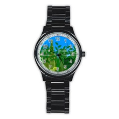 Environmental Protection Stainless Steel Round Watch