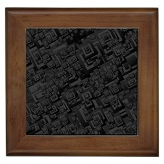 Black Rectangle Wallpaper Grey Framed Tiles