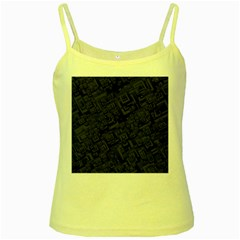 Black Rectangle Wallpaper Grey Yellow Spaghetti Tank