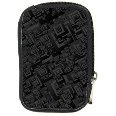 Black Rectangle Wallpaper Grey Compact Camera Leather Case