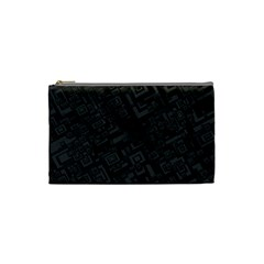 Black Rectangle Wallpaper Grey Cosmetic Bag (small)