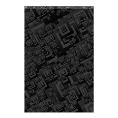 Black Rectangle Wallpaper Grey Shower Curtain 48  X 72  (small)