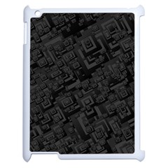 Black Rectangle Wallpaper Grey Apple Ipad 2 Case (white)