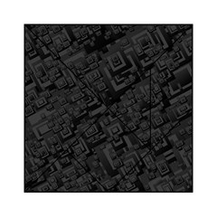 Black Rectangle Wallpaper Grey Acrylic Tangram Puzzle (6  X 6 )