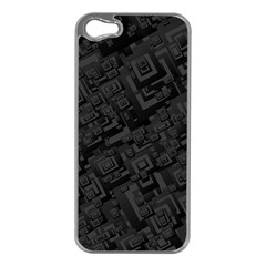 Black Rectangle Wallpaper Grey Apple Iphone 5 Case (silver)