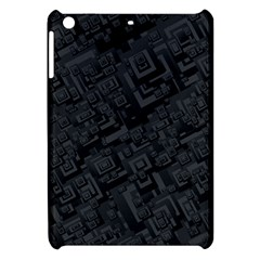 Black Rectangle Wallpaper Grey Apple Ipad Mini Hardshell Case