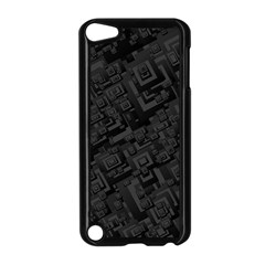 Black Rectangle Wallpaper Grey Apple Ipod Touch 5 Case (black)