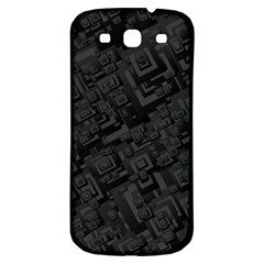Black Rectangle Wallpaper Grey Samsung Galaxy S3 S Iii Classic Hardshell Back Case