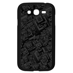 Black Rectangle Wallpaper Grey Samsung Galaxy Grand Duos I9082 Case (black)
