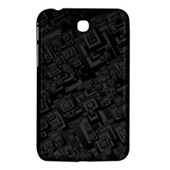 Black Rectangle Wallpaper Grey Samsung Galaxy Tab 3 (7 ) P3200 Hardshell Case