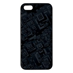 Black Rectangle Wallpaper Grey Iphone 5s/ Se Premium Hardshell Case