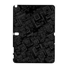 Black Rectangle Wallpaper Grey Samsung Galaxy Note 10 1 (p600) Hardshell Case